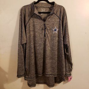 Dallas Cowboys Plus 4X Half Zip NFL Long Sleeve